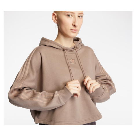 adidas Cropped Hoodie Trace Brown