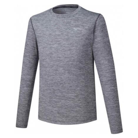 Mizuno IMPULSE CORE LS TEE gray - Men's long sleeve running T-shirt