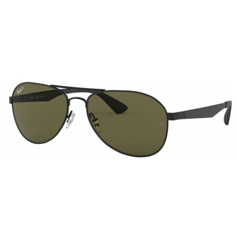 Ray Ban Man RB3549 - Frame color: Black, Lens color: Green, Size 61-16/145