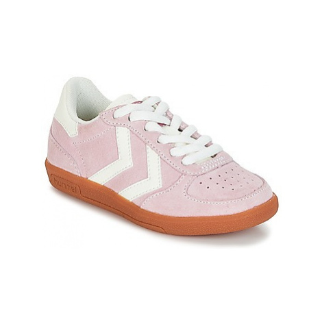 Hummel VICTORY JR girls's Children's Shoes (Trainers) in Pink
