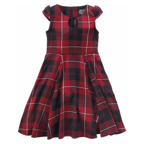 H&R London - Red Tartan Tea Kids Dress - Kids Dress - red-black
