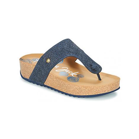 Panama Jack QUINOA women's Flip flops / Sandals (Shoes) in Blue