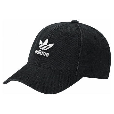 cap adidas Originals Washed Adicolor Baseball - Black/White - women´s