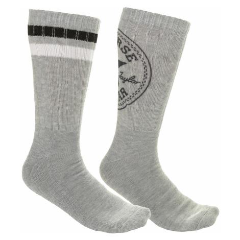 socks Converse Fashion Crew 360 Chuck Patch 2 Pack - E744H/Light Gray Melange/Light Gray Melange