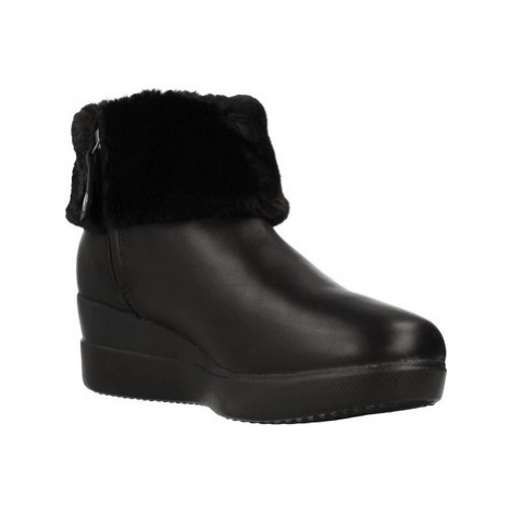 Geox BH D STARDUST women's Low Ankle Boots in Black