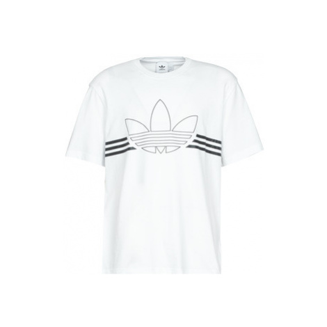 Adidas OUTLINE TRF TEE men's T shirt in White