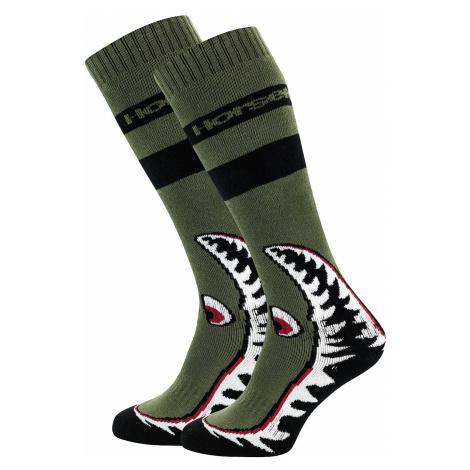socks Horsefeathers Shark - Olive - men´s