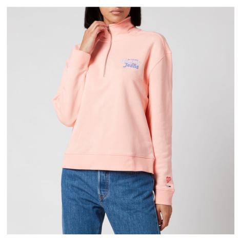 Tommy Jeans Women's Summer Mock Neck Sweatshirt - Sweet Peach Tommy Hilfiger