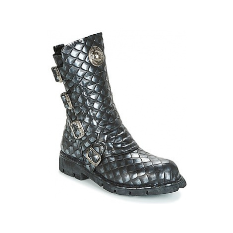 New Rock GRUNGY women's Mid Boots in Black