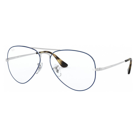 Ray-Ban Aviator optics Man Optical Lenses: Multicolor, Frame: Silver - RB6489 2970 55-14