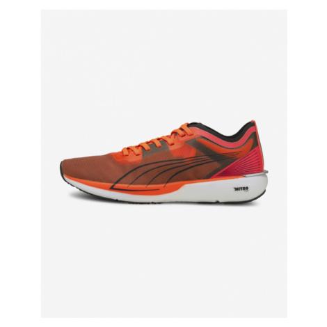 Orange women's running shoes
