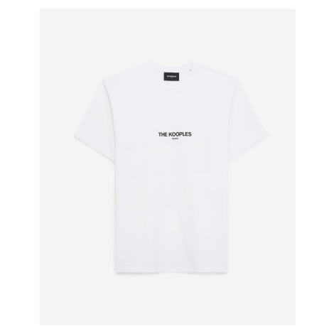 The Kooples - White cotton T-shirt with The Kooples logo - MEN