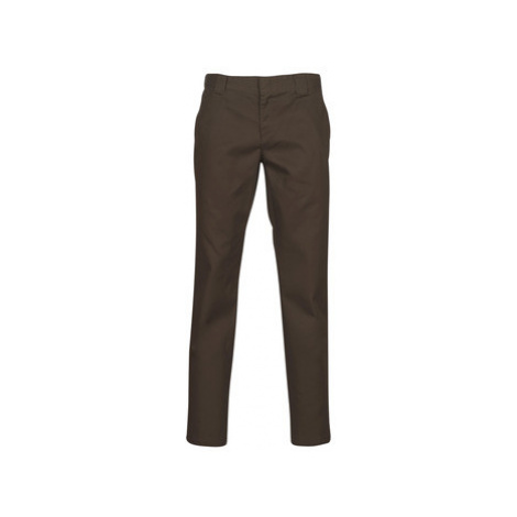 Dickies SLIM FIT WORK PNT men's Trousers in Brown