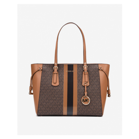 Michael Kors Voyager Medium Logo Handbag Brown