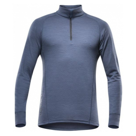 Devold DUO ACTIVE MAN ZIP NECK blue - Men's functional T-shirt