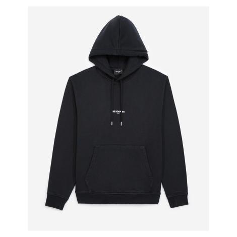 The Kooples - Black hoodie in cotton with printed logo - MEN