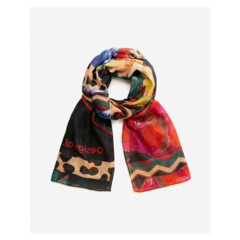 Desigual Day & Night Scarf Red Colorful