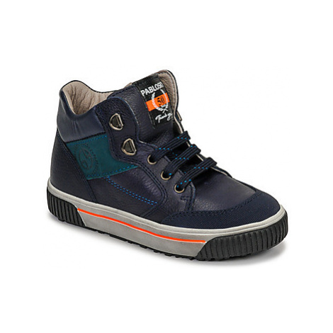 Pablosky 592821 boys's Children's Shoes (High-top Trainers) in Blue