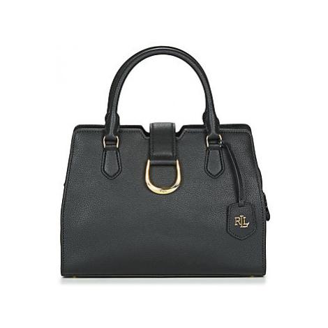 Lauren Ralph Lauren KENTON CITY SATCHEL MED women's Handbags in Black