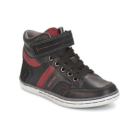 Geox J GARCIA B. A boys's Children's Shoes (High-top Trainers) in Black