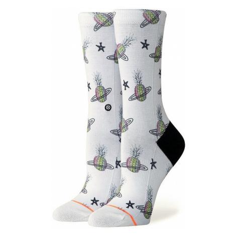 socks Stance Pineapple Planet Crew - White - women´s
