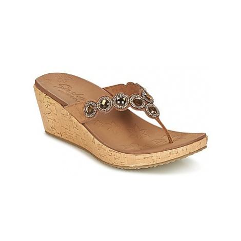 Skechers BEVERLEE women's Flip flops / Sandals (Shoes) in Brown