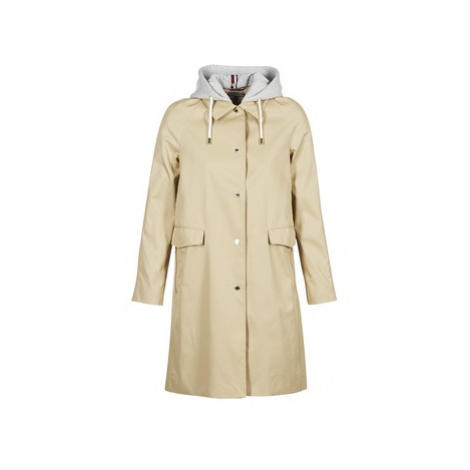 Tommy Hilfiger HERCULES-COTTON-JKT women's Trench Coat in Beige