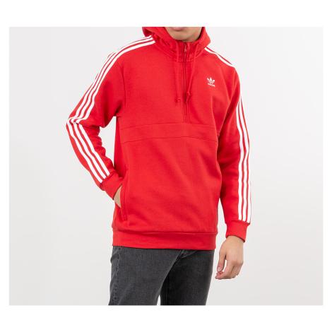 adidas 3-Stripes Half Zip Sweatshirt Lush Red