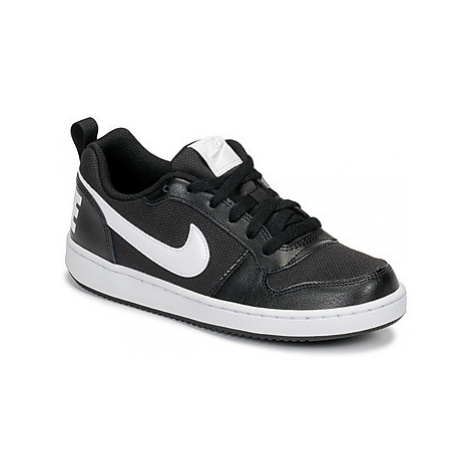 Nike COURT BOROUGH LOW PE GRADE SCHOOL girls's Children's Shoes (Trainers) in Black