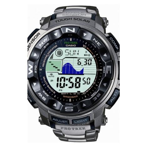 Mens Casio Pro Trek Titanium Alarm Chronograph Radio Controlled Watch PRW-2500T-7ER