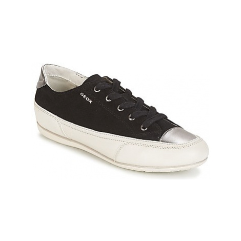 Geox D N.MOENA D - SCAM.STA+VIT.CER women's Shoes (Trainers) in Black