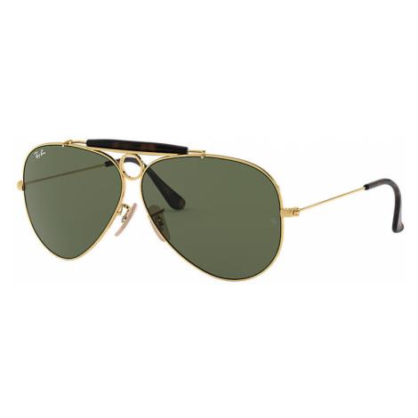 Ray-Ban Shooter havana collection Man Sunglasses Lenses: Green, Frame: Gold - RB3138 181 62-09