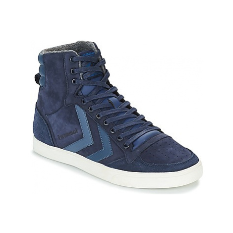 Hummel SLIMMER STADIL DUO OILED HIGH women's Shoes (High-top Trainers) in Blue