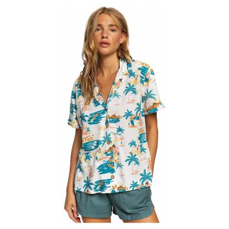 shirt Roxy Remind To Forget - WBK8/Snow White Honolulu - women´s