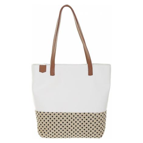 bag Popa Marilyn Medium - Cuero And White Napa/Dots