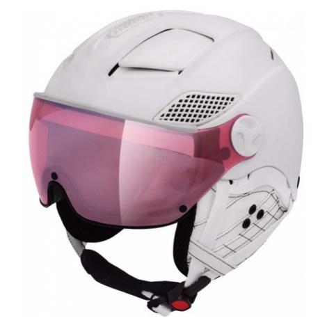 Mango MONTANA VIP white - Unisex ski helmet with a visor