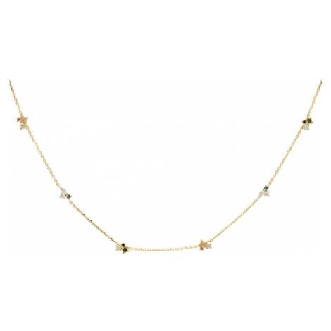 P D PAOLA Gold Plated La Palette Necklace
