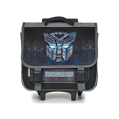 Dessins Animés TRANSFORMERS CARTABLE A ROULETTES 38CM boys's Children's Rucksack in Black