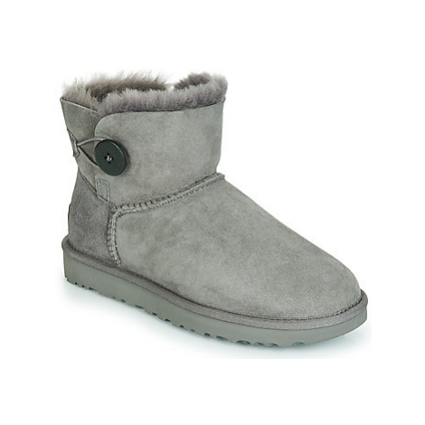 UGG MINI BAILEY BUTTON II women's Mid Boots in Grey