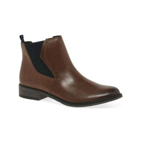 Marco Tozzi Angelina Womens Chelsea Boots women's Low Ankle Boots in Brown