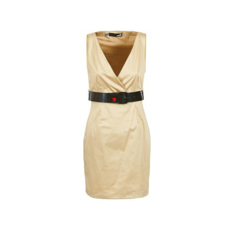 Love Moschino ACTEE women's Dress in Beige