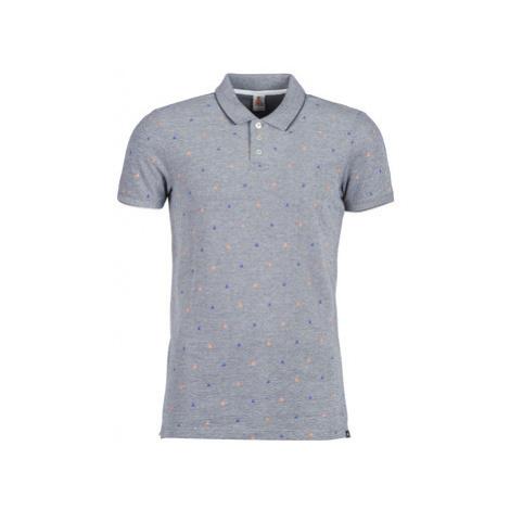 Scotch Soda AMS BLAUW POLO SHIRT WITH ALLOVER PRINT men's Polo shirt in Grey Scotch & Soda