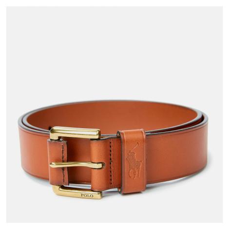 Polo Ralph Lauren Men's Leather Polo Dress Belt - Tan - XXL/W40
