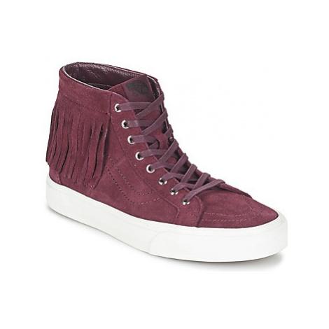 Vans SK8-HI MOC women's Shoes (High-top Trainers) in Red