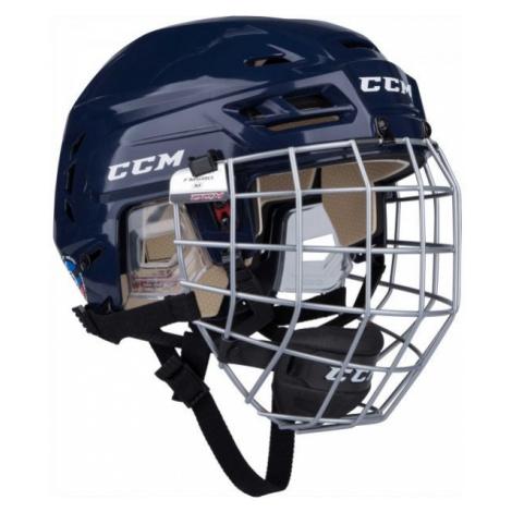 CCM TACKS 110 COMBO SR blue - Hockey helmet