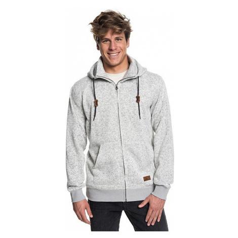 sweatshirt Quiksilver Keller Zip - SJSH/Light Gray Heather - men´s
