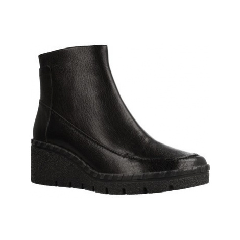 Geox D WIVA WEDGE women's Low Ankle Boots in Black