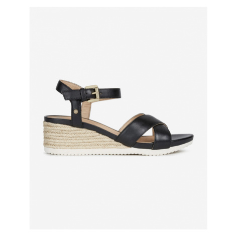 Geox Ischia Corda Wedge shoes Black