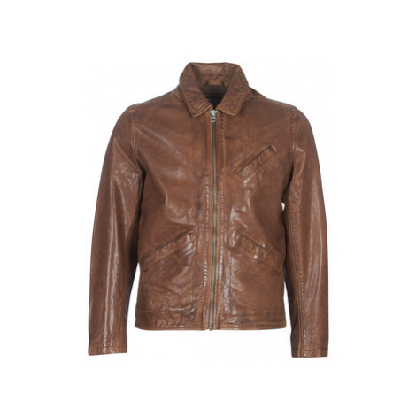Pepe jeans FLAUWE men's Leather jacket in Brown
