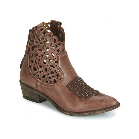 Mimmu 374Z2M women's Low Ankle Boots in Brown